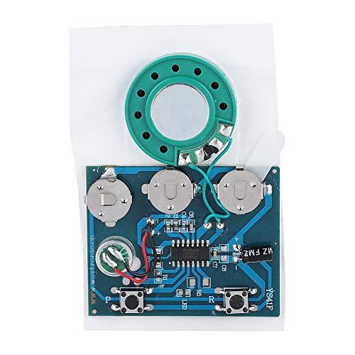 Dpofirs Módulo de Voz de Bricolaje, Sonido de música grabable, Chip de módulo de Voz con batería de botón, aplicación para la producción de una Tarjeta de Bricolaje Caja de Regalo Caja de Pastel.(1)