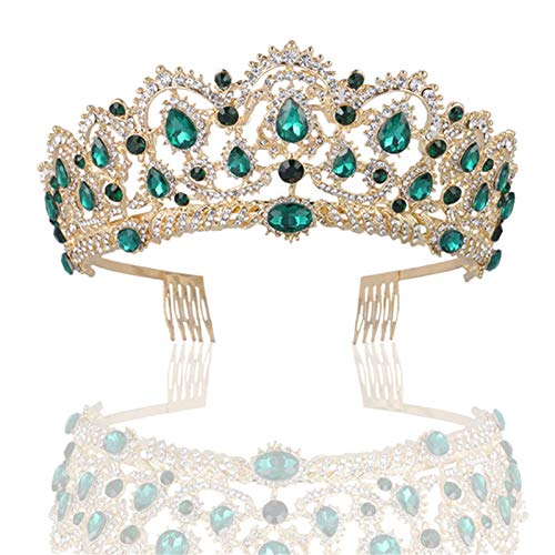 Women's Tiaras,Crown,Vintage Princess Tiara Pageant Wedding Crown Crystal,Hair Crown Branch for Wedding, Party, Dancing Party, Fashion Show
