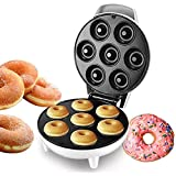 Braceletlxy Mini Donut Maker Machine, Hace 7 Donuts para desayunos, bocadillos, postres y más Chocolate para Hornear de Mezcla con Superficie Antiadherente
