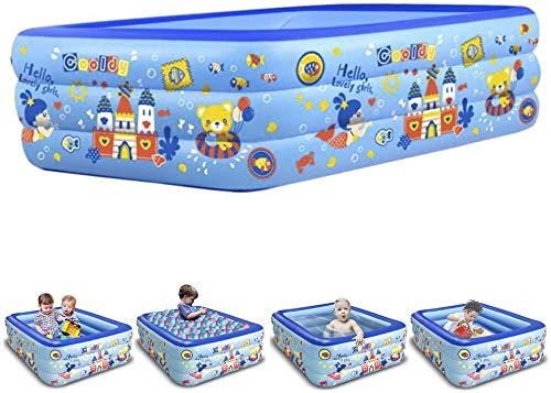 WEY&FLY Familie Pool, Kinderpool für Schwimmen Spielen Schlafen, Kinder Aufstellpool Planschbecken Aufblasbare Pool, Aufblasbare Badewanne, 3-Ring Embossing