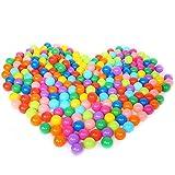 Vococal 100 Pcs Enfants Bébés Colorful Plastique Souple Rempli D'Air Pit Balls Jouer pour Ball Pits Bounce Houses Jouer Tentes Kiddie Piscines Maisonnettes