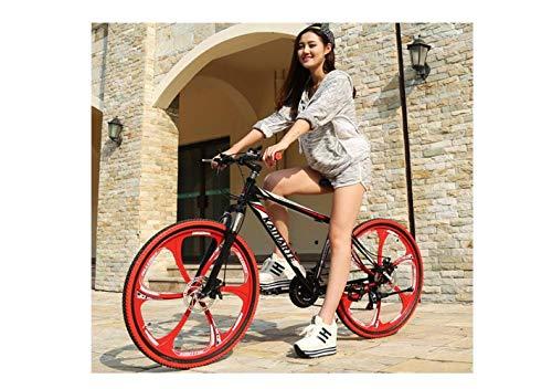 Bicicleta de Montaña Suspensión Unisex Rueda Integral de 26 Pulgadas Acero de Alto Contenido en Carbono Marco Ultraligero Freno de Disco Doble 21 Velocidad 24 Velocidad 27 Velocidad Estudiante