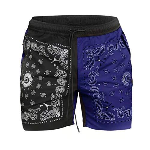 Pantalones Cortos de Basculador para Hombre Color de Moda a Juego Pantalones de Baloncesto Casuales Sueltos para Correr en la Calle Principal Europea y Americana Verano para Correr al Aire Libre 3XL