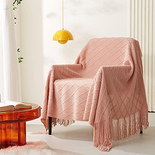 KLily Manta De Hilo De Color Puro Adecuada para El Hogar, Dormitorio, Sala De Estar, Sofá, Toalla De Playa para Picnic, Material Lavable