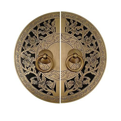 Kupfer runder Griff, Schrankschrank Schuhschrank antiker Griff, Scheibengriff/Farbe: B, Größe: 24cm
