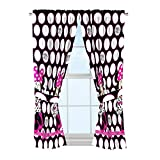 Includes (2) curtain panels and (2) tie Backs for a full window ensemble Each curtain panel measures 42wide (total width 84) by 63Long Fits standard decorative curtain rod (sold separately) Perfect for any child's bedroom or kid's playroom Easy care,...