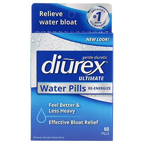 Diurex Ultimate Re-Energizing Water Pills - Maximum Strength Diuretic - Relieve Water Bloat - 60 Count