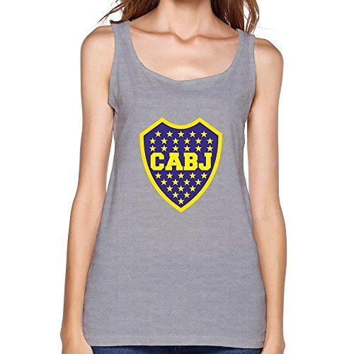 Hilary Susie Women's Escudo del Club Atletico Boca Juniors Vintage Tops XXXX-L