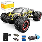 【60 KM/H Super Fast & 4x4】With powerful motor which runs at a high speed of 90-95m/s, You can reach maximum speed up to about 60KM/H 35+ MPH. Featured with 4 wheel drive and supported by 4 independent suspensions, the RTR remote control truck can gai...