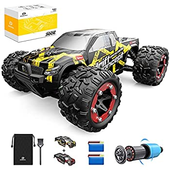 DEERC Brushless RC Cars 300E 60KM/H High Speed Remote Control Car 4WD 1 18 Scale Monster Truck for Kids Adults All Terrain Off Road Truck with Extra Shell 2 Battery,40+ Min Play Car Gifts for Boys…
