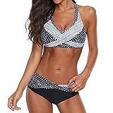 CheChury Bikinis Mujer 2021 Talla Grande Gradiente de Color Push up Sexy de Lunares de Playa Conjunto de Traje de BañO Estampado Bohemio BañAdores con Sujetador Retro Tops y Braguitas
