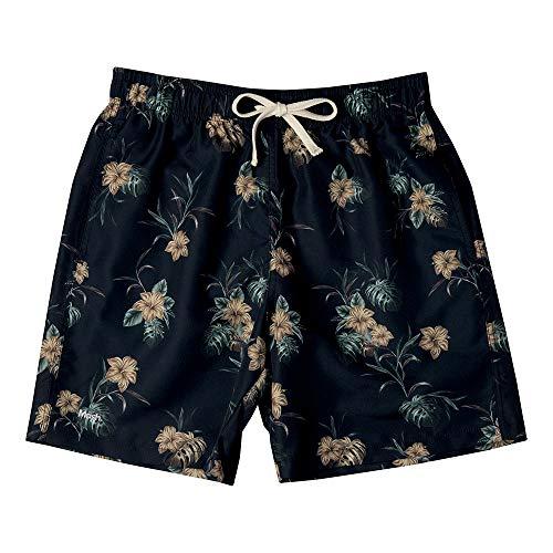 Shorts Casual Estampado Floral, Mash, Masculino, Preto, M