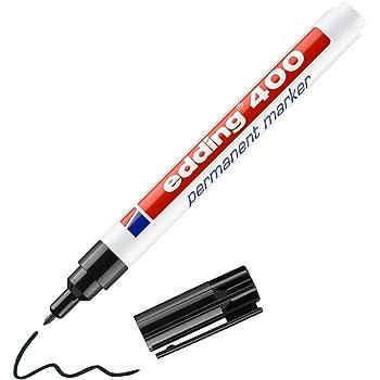 Edding 8040 Wäschemarker Permanentmarker Textil Stift Farbe schwarz