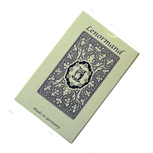 Green Cross Toad Blue Owl Cartes de Voyance par Mlle Lenormand, 36 Cartes de Divination avec Instructions en Anglais