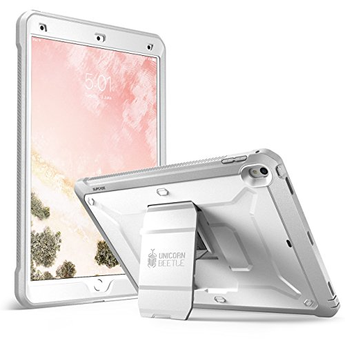 SUPCASE Unicorn Beetle PRO Case for iPad Air 3 (2019) and iPad Pro 10.5'' (2017), Heavy Duty with Built-in Screen Protector Full-Body Rugged Protective Case(White)
