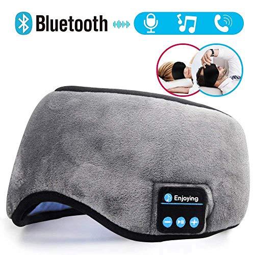 ANLW Auriculares Bluetooth,Auriculares inalámbricos máscara de Ojo Cascos Bluetooth inalámbricos Máscara para Dormir Eye Mask Estéreo iPhone Samsung Android