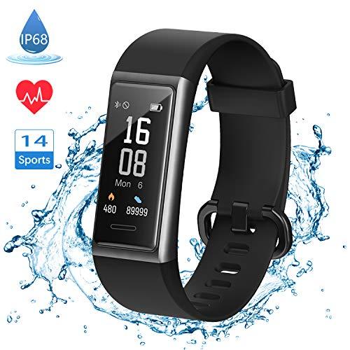 LIFEBEE Fitness Armband, Smartwatch Fitness Tracker mit Pulsmesser Wasserdicht IP68 Schrittzähler Uhr Sportuhr Fitness Uhr für Damen Herren Smart Watch Uhr Activity GPS-Tracker für Android iOS