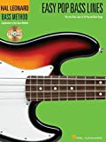 Hal Leonard Bass Method Easy Pop Bass Lines Bass Guitar Book/Cd