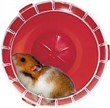 Roue silencieuse pour cage RodyLounge rouge cerise SILENT WHEEL diamètre 14 cm environ (hamsters, gerbilles). ! Vérifier si la taille est adaptée à votre animal.
