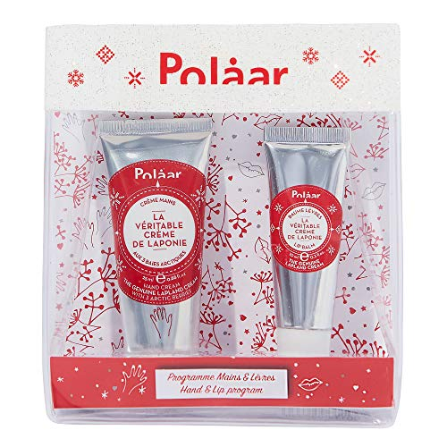 Polåar Coffret Cadeau Kit Laponie 2 Soins Beauté Naturels Crème pour Mains, 25 ml + Baume Lèvres, 10 ml, 1 Unité