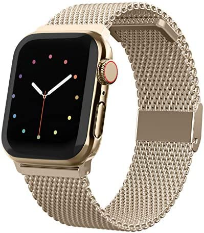 CCnature Compatible with Apple Watch Band 38mm 40mm 42mm 44mm Stainless Steel Mesh Loop Bands product image