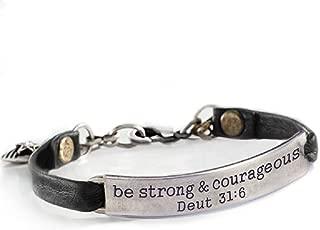 Inspirational Leather Band Bible Message Bracelets