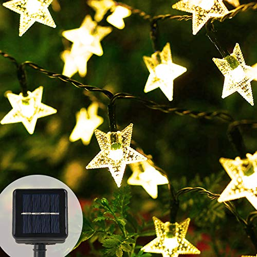 SUNNEST Solar String Lights, 7M 50 LED Solar Fairy Lights Dress Up Your Rooms, Outdoor Gardens, Suitable for Creating Atmosphere for Various Festivals