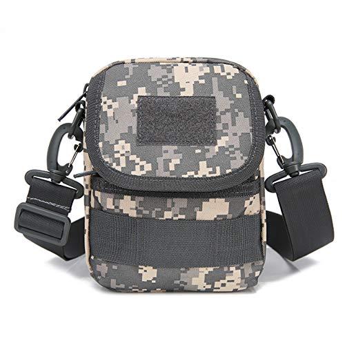 ZPFDM Shoulder Messenger Bag, 5.1227.1 Inch Multi-Function Adjustable Waterproof and Durable Camouflage Shoulder Bag, for Outdoor Travel Sports