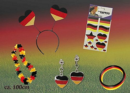 KarnevalsTeufel Fan Set, 5-TLG. Deutschland, EM, WM, Fußballparty, Germany, Fanartikel
