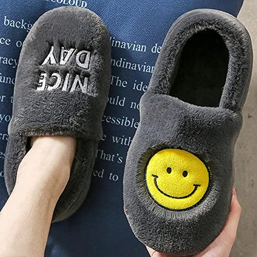 Zapatillas De Casa para Mujer Verano Abiertas,Hombres Y Mujeres OtoñO/Invierno Interior Hogar Suela Gruesa Antideslizante Calidez Pareja Felpa Corta Zapatillas De JardíN Al Aire Libre-UE 38/39 (235