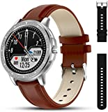 AMATAGE Waterproof Smart Watch for Men, Fitness Tracker Watch for Android Phones,&iOS, Activity Fitness Tracker with Heart Rate and Blood Pressure Monitor, 23 Sport Modes-Sliver&1 Extra Band