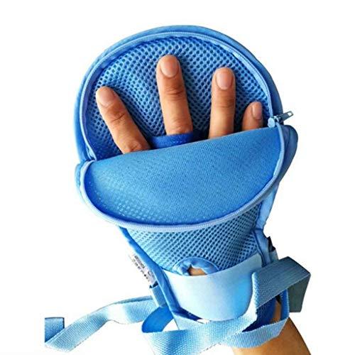 Vinger Control Mitts Hand Protector Padded Prevent Vinger Harm Ademende Handschoenen Beschermende Inner Anti-scratch Pad,A Pair
