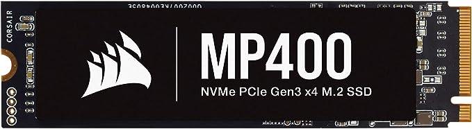 TALLA 1 TB. Corsair MP400 1TB Gen3 PCIe x4 NVMe M.2 SSD Velocidades de Lectura Secuencial de hasta 3.400 MB/s y de Escritura Secuencial de 3.000 MB/s, 3D QLC NAND de Adecuada Densidad Negro
