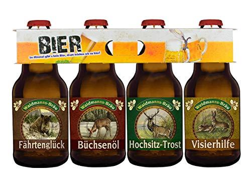 Jagd-Bier im 4er Bierschaum-Träger (4 x 0,33l)