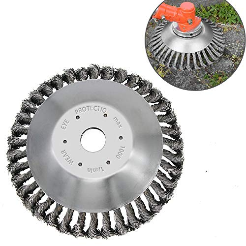Boxgear 6 Inch Steel Wire Wheel Garden Weed Brush Lawn Mower, Twist Knot Steel Wire Wheel Brush Disc...