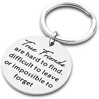 Best Friend Gifts Keychain for Teen Girls Her,Friendship Gifts for Women Men, Long Distance Relationships Brithday Graduation Sister Gifts True Friends Keyring Jewerly