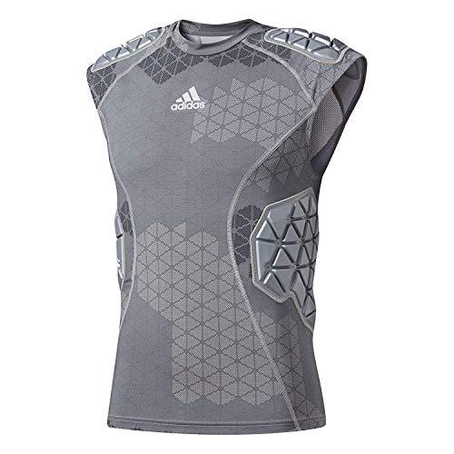 adidas Techfit Ironskin Mens 5 Pad Sleeveless Football Shirt Onix-Light Onix X-Large