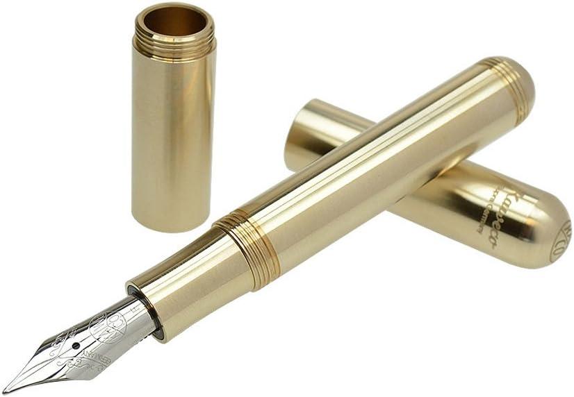 F Kaweco Supra Fountain Pen Brass Nib fine