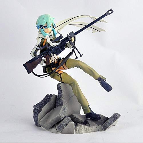 XUEKUN Sword Art Online Ⅱ Action-Figur-GGO Asada Shino-23cm-Statue-Modell-Dekoration-Anime-Charakter-Kinder-Puppe-Spielzeug-Souvenir-Liebhaber-Sammlung-Geschenk Sinon