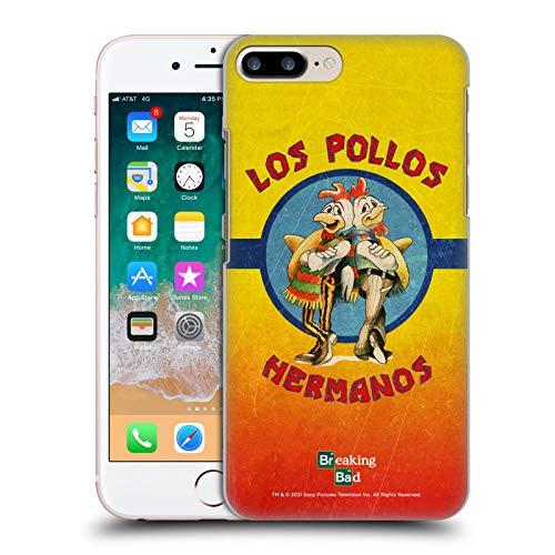 Head Case Designs Licenza Ufficiale Breaking Bad Los Pollos Hermanos Grunge Iconico Cover Dura per Parte Posteriore Compatibile con Apple iPhone 7 Plus/iPhone 8 Plus