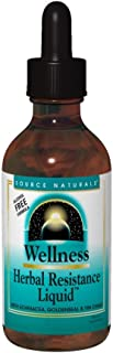Source Naturals Wellness Herbal Resistance Liquid Immune Defense Supplement & Immunity Booster with Echinacea, Elderberry & Yin Chiao - 8 OZ