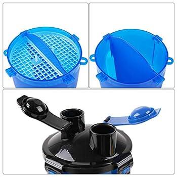 RCruning-EU Bouteille d'eau pour Chien Portable Distributeur d'eau Gamelle pour Chien Pliable pour Chien Chiot Chat Bleu