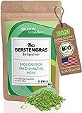 Gerstengrassaft Pulver Bio - 250 g (XL Packung) - aus Kansas USA, abgefüllt in Bayern I Gerstengras Pulver I DE-ÖKO-001