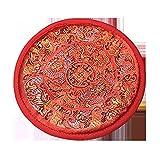 FFDGHB Tibetan Embroidery Singing Bowl Mat In Nepal Handgefertigte Teekannenmatte 垫 Handmade 钵 底 垫 佛 垫 16Cm