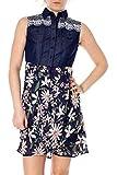 Desigual 32 - Vestido corto para mujer, color azul