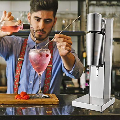 Vogvigo Mezclador de bebidas, máquina de batidos de acero inoxidable 180W 18000 rpm, milkshake maker batidora de batidos con dos contenedores de acero inoxidable de 800 ml para cóctel jugo milkshake