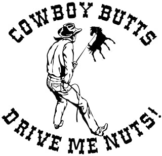 cowboys butts drive me nuts bumper sticker