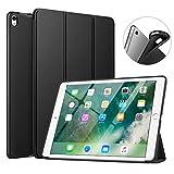 MoKo Funda Compatible con New iPad Air (3rd Generation) 10.5' 2019/iPad Pro 10.5 2017, Superior Delgada Protectora Case con Tapa Trasera Esmerilada Translúcida - Negro