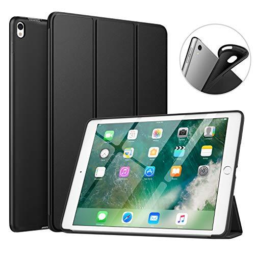 "MoKo Funda Compatible con New iPad Air (3rd Generation) 10.5"" 2019/iPad Pro 10.5 2017, Superior Delgada Protectora Case con Tapa Trasera Esmerilada Translúcida - Negro"