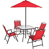 Albany Lane 6-Piece Folding Dining Set, Multiple Colors - New (Red)